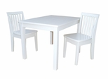 3-Piece Set - Table with 2 Mission Juvenile Chairs in Linen White - K08-2532-263-2