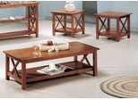 3 Piece Table Set in Brown - Coaster