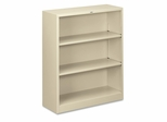3 Shelf Metal Bookcase - Putty - HONS42ABCL