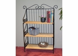 3 Tier Bookcase in Wicker/Metal - 4D Concepts - 143014