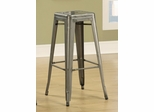 """30"""" Backless Bar Stool in Antique Silver - Set of 2 - 103060CL"""