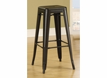 "30"" Backless Bar Stool in Black - Set of 2 - 103060K"