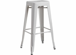 "30"" Backless Bar Stool in White- Set of 2 - 103060W"