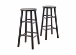 "30"" Bevel Seat Stool - Set of 2 - Winsome Trading - 92780"
