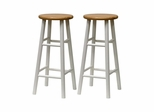 "30"" Beveled Seat Stool - Set of 2 - Winsome Trading - 53780"