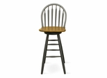"30"" Windsor Arrowback Swivel Stool in Black / Cherry - S57-613"