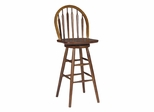 "30"" Windsor Arrowback Swivel Stool in Cottage Oak - S48-613"
