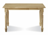 "30"" x 48"" Solid Wood Top Table in Natural - T01-3048"