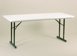 "30"" x 72"" Blow-Molded Plastic T-Leg Seminar Folding Table - Correll Furniture - R3072TL"