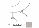 34 Inch Adjustable Crescent Table in Nebula Gray - Mayline Office Furniture - TT60CANGRBLK