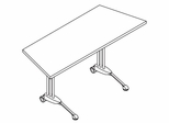 34 Inch Adjustable Trapezoid Table in Pearwood - Mayline Office Furniture - TT60TACRPBLK