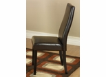 341 Side Chair (Set of 2) in Brown Leather - Armen Living - LC341SIESBC-SET