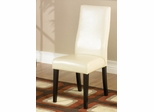341 Side Chair (Set of 2) in Cream Leather - Armen Living - LC341SIESCR-SET