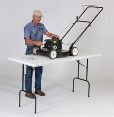 """36"""" Counter Height Blow Molded Plastic Work Table 30x72 - Correll Office Furniture - RS3072"""