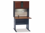 """36"""" Desk and Hutch Set - Series A Hansen Cherry Collection - Bush Office Furniture - WC90436A-37"""