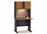 """36"""" Desk and Hutch Set - Series A Natural Cherry Collection - Bush Office Furniture - WC57436-37"""