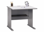 """36"""" Desk - Series A Pewter Collection - Bush Office Furniture - WC14536"""