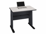 """36"""" Desk - Series A Slate Collection - Bush Office Furniture - WC8436A"""