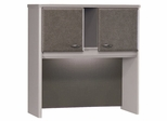 """36"""" Hutch - Series A Pewter Collection - Bush Office Furniture - WC14537"""