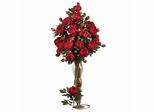 """38.5"""" Peony with Leaves Stem (Set of 12) - Nearly Natural - 2126-RD"""