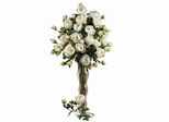 """38.5"""" Peony with Leaves Stem (Set of 12) - Nearly Natural - 2126-WH"""