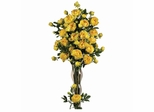 """38.5"""" Peony with Leaves Stem (Set of 12) - Nearly Natural - 2126-YL"""