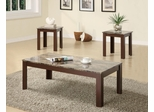3PC Brown Accent Table Set - 700395