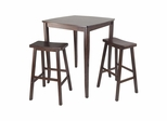 3Pc Inglewood Pub Dining Set - Winsome Trading - 94380