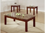 3PC Medium Brown Accent Table Set - 700305