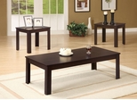 3PC Occasional Table Set - Dark Walnut Finish - 700215