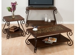 3PC Occasional Table Set with Mosaic Tile Top Inlay - 566-1