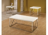 3PC White Accent Table Set - 701594