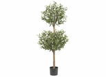 4.5' Olive Double Topiary Silk Tree - Nearly Natural - 5309
