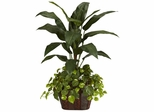 4' Bird of Paradise with Vase and Pothos Silk Plant - Nearly Natural - 6637