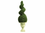 4' Cedar Spiral with Decorative Vase in Green - Nearly Natural - 5222