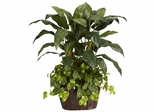 4' Double Bird of Paradise with Vase and Pothos Silk Plant - Nearly Natural - 6636