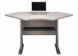 """42"""" Corner Desk - Series A Pewter Collection - Bush Office Furniture - WC14542"""