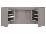 """42"""" Corner Hutch - Series A Pewter Collection - Bush Office Furniture - WC14543"""