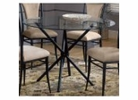 44 Inch Round Dining Table with Glass Top - Hillsdale Furniture - 4637DTB
