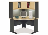 """48"""" Corner Desk and Hutch Set - Series A Beech Collection - Bush Office Furniture - WC14366-67"""