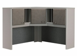 """48"""" Corner Hutch - Series A Pewter Collection - Bush Office Furniture - WC14567"""