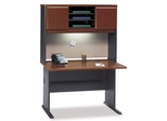 """48"""" Desk and Hutch Set - Series A Hansen Cherry Collection - Bush Office Furniture - WC90448A-49"""