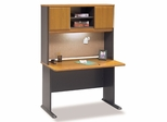 """48"""" Desk and Hutch Set - Series A Natural Cherry Collection - Bush Office Furniture - WC57448-49"""