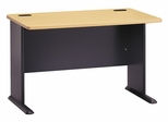 """48"""" Desk - Series A Beech Collection - Bush Office Furniture - WC14348"""