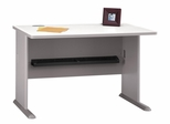"""48"""" Desk - Series A Pewter Collection - Bush Office Furniture - WC14548"""