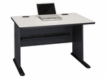 """48"""" Desk - Series A Slate Collection - Bush Office Furniture - WC8448A"""