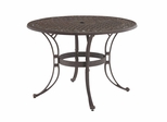 48 Inch Round Outdoor Dining Table in Rust Brown - Home Styles - 5555-32