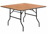 48'' Square Wood Folding Banquet Table - YT-WFFT48-SQ-GG