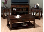 4PC Accent Table Set in Cassidy Brown - 561-1