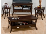 4PC Livingroom Table Set in Espresso - 328-1